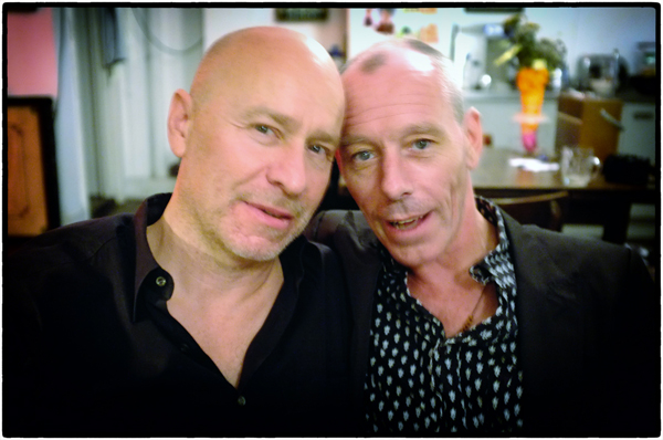 Matt Johnson and Steve Pyke photographed by Helen Edwards