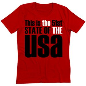 Red 51st State, T-Shirt, Red, USA, THE THE, Fashion