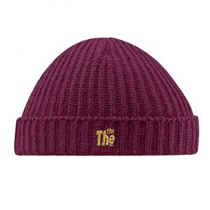 Burgundy THE THE Beanie-0