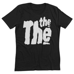 Black T-Shirt, Black, THE THE, Logo, clothing, merchandise