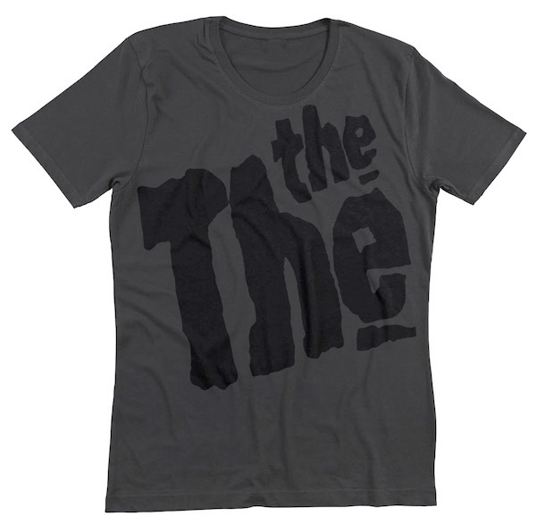 The The Logo, Grey THE THE, t-shirt, clothing, matt johnson, infected
