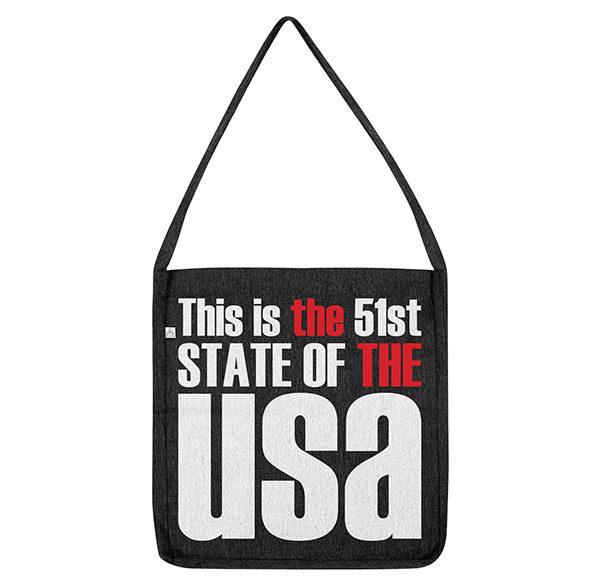 Tote Bag; 51st state, USA, Tote Bag, THE THE, Matt Johnson, Trump, Politics, President, Russia