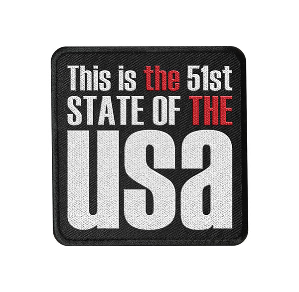 51st State, Embroidered Patch, The the, thethe, USA, politics