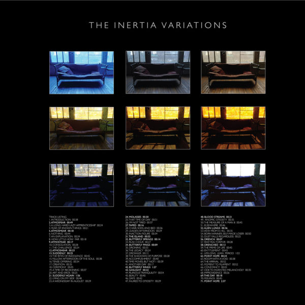 The Inertia Variations inner page deluxe CD tracklist